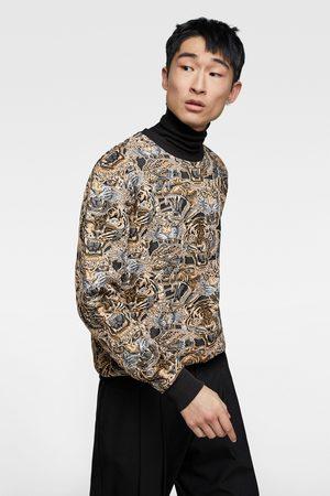 camisa jacguard devorado zara