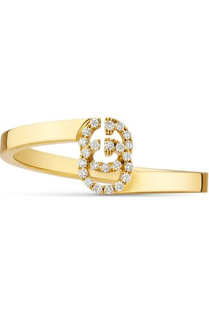 Gucci Mujer Anillos - GG ring in yellow gold with diamonds