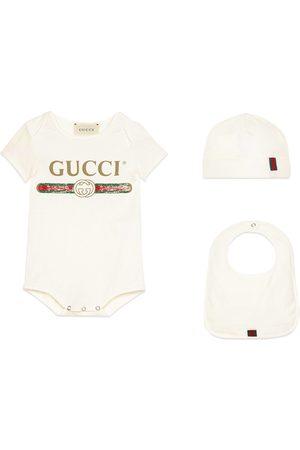 Gucci Bebé Conjuntos de ropa - Conjunto de Regalo de Bebé de Algodón con Logo
