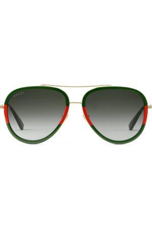 Gucci Gafas de sol de aviador metálicas