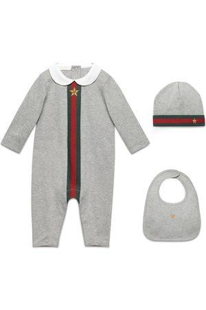 Gucci Conjunto regalo bebé 3 piezas estampado tribanda