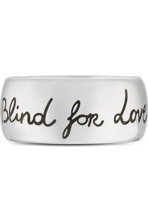 """Gucci Anillo """"Blind for Love"""" de Plata"""