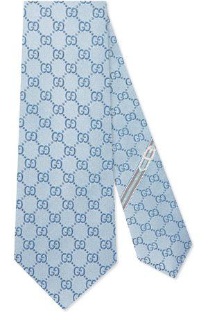 Gucci Corbata de seda con motivo GG