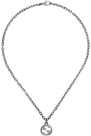 Gucci Hombre Collares - Collar con Colgante de G Entrelazada