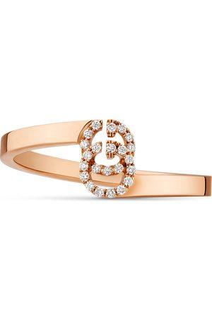 Gucci Anillo GG de Oro Rosa con Diamantes