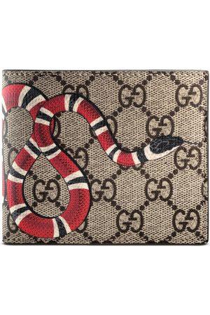 Gucci Cartera GG Supreme con Estampado de Serpiente Real