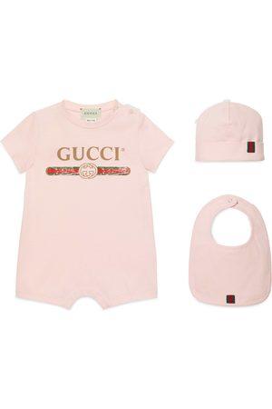 Gucci Bebé Conjunto Regalo Bebé Algodón Logo