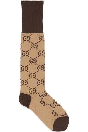Gucci Hombre Calcetines - Calcetines de Algodón con G Entrelazada