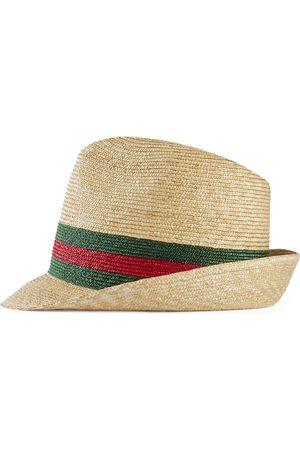 Gucci Sombrero Fedora de Paja Tejida