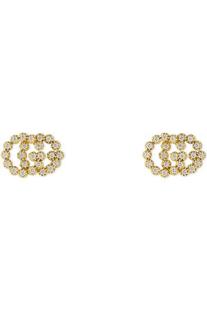 Gucci Tachuelas Doble G con Diamantes