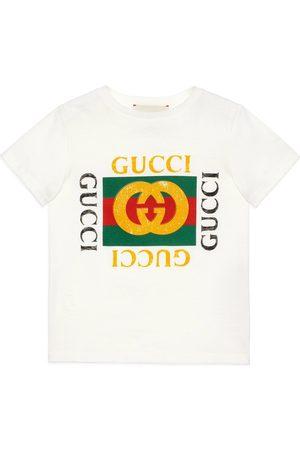 Gucci Camiseta Infantil de Algodón con Logotipo