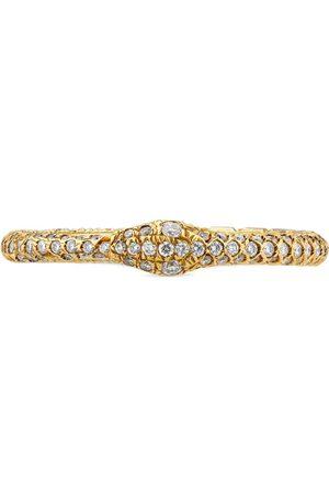 Gucci Anillo de Oro con Uróboros y Diamantes
