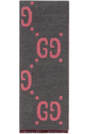 Gucci Pañuelo de seda y lana de jacquard con GG