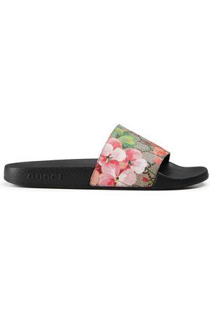Gucci Sandalia tipo chancla GG Blooms