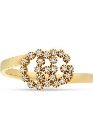 Gucci Anillo Doble G con Diamantes