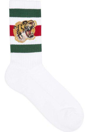 Gucci Calcetines de Algodón Elástico con Tigre