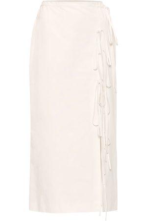 BROCK COLLECTION Falda midi de algodón con cordones