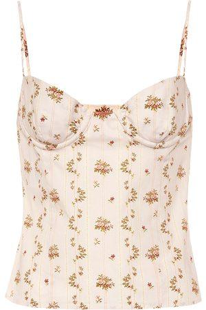 BROCK COLLECTION Top de algodón con estampado floral