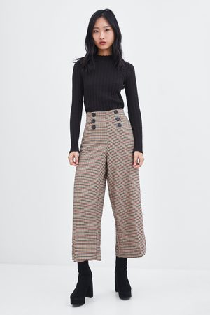 Pantalones Anchos De Mujer Zara Pantalones Anchos Negros Fashiola Es