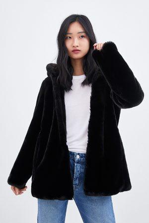 baratas para descuento 84ef6 d734b Abrigo negro pelo capucha zara – Chaquetas de hombre y mujer ...