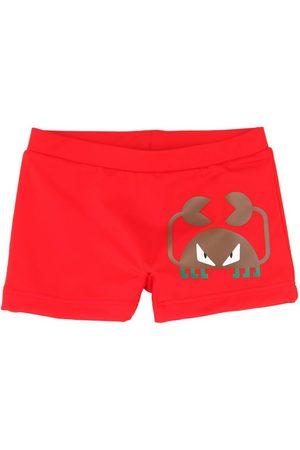 Fendi | Niño Shorts De Lycra Con Estampado 4a