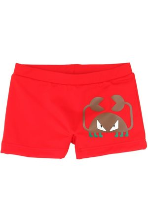 Fendi Shorts De Lycra Con Estampado