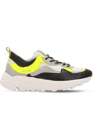 Ama Brand | Mujer Sneakers De Piel Y Malla Con Plataforma /amarillo 35