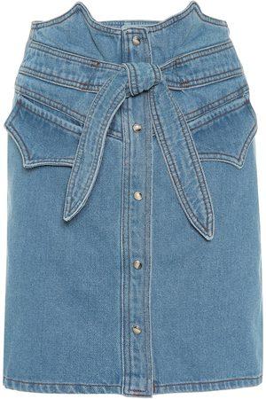 Nanushka Minifalda Reese de jeans