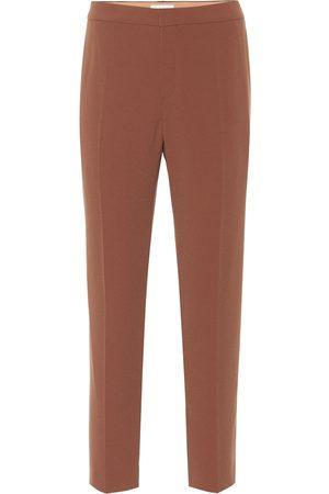 Chloé Pantalones de crepé rectos
