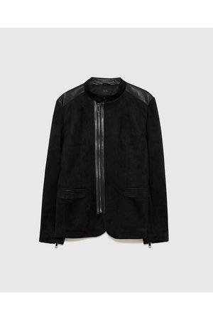 Chaquetas De Cuero de hombre Zara abrigos moda ¡Compara 62 productos ... 75f47a4bb7e