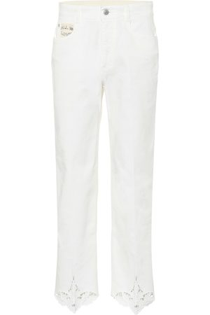 Stella McCartney Jeans bordados de tiro medio