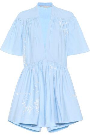 Stella McCartney Mono de algodón bordado