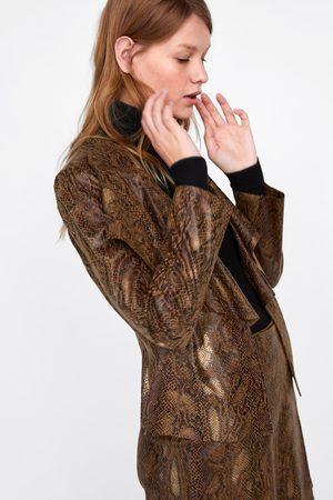 43d592ea86a Zara Cuero Mujer Productos Chaquetas De Y Compra Online ¡compara 39 q4w5Ttx5