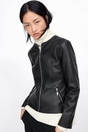 b0cc6a499fa De ¡compara Chaquetas Mujer Compra Y Zara Cuero Online 37 Productos dPnXgw