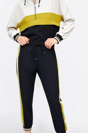 Zara Pantalón jogging banda lateral