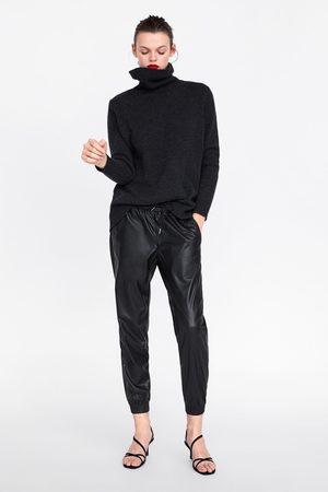 Zara Pantalón zw premium jogger faux leather
