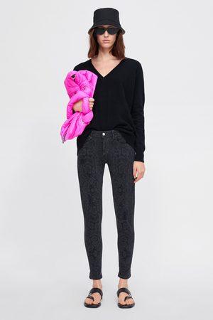 Zara Jeans z1975 skinny estampado animal