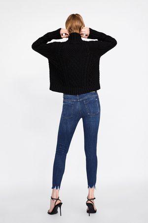 Zara Jeans z1975 skinny bajo deshilachado