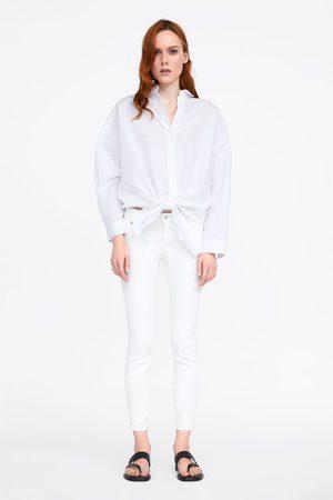 Zara Jeans zw premium skinny white coated