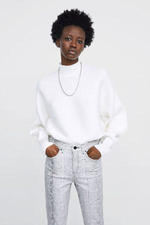 Zara Jeans z1975 high rise skinny estampado