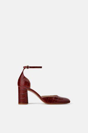Zara Zapato piel tacón estampado animal