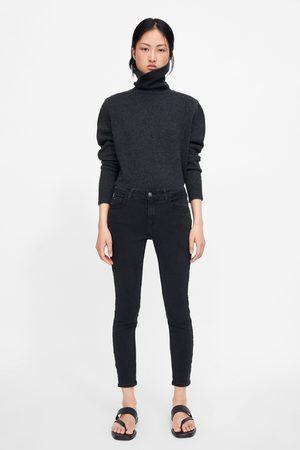 Zara Jeans z1975 skinny banda lateral abalorios