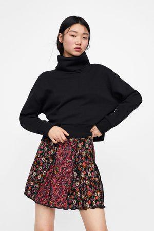 Zara Falda mini patchwork estampado floral