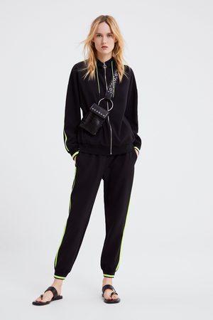 Zara Pantalón jogger banda lateral
