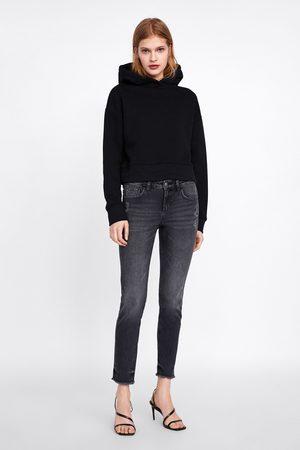 Zara Jeans z1975 skinny bajo desflecado