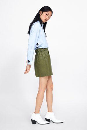 Zara Falda mini efecto piel