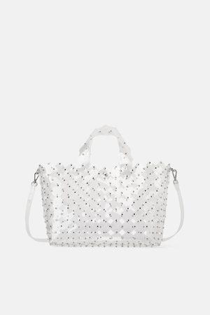 Zara Bolso shopper troquelado tachas