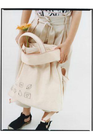 Zara Mochila shopper algodón
