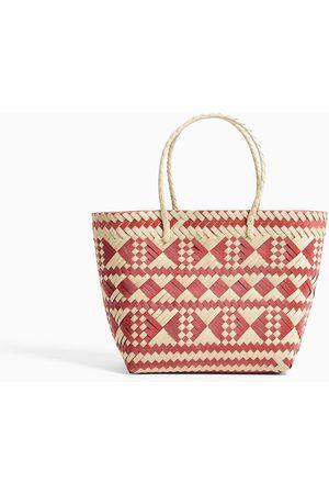 Zara Shopper trenzado color