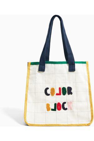 Zara Shopper algodón bordado